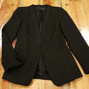Zara tux style black blazer, size s